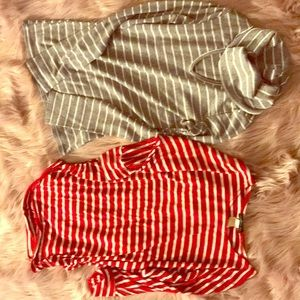2 striped tops